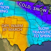Spring 2014 Weather Map for Planting Cole Crops