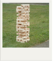 DIY Giant Jenga Summer Yard Game