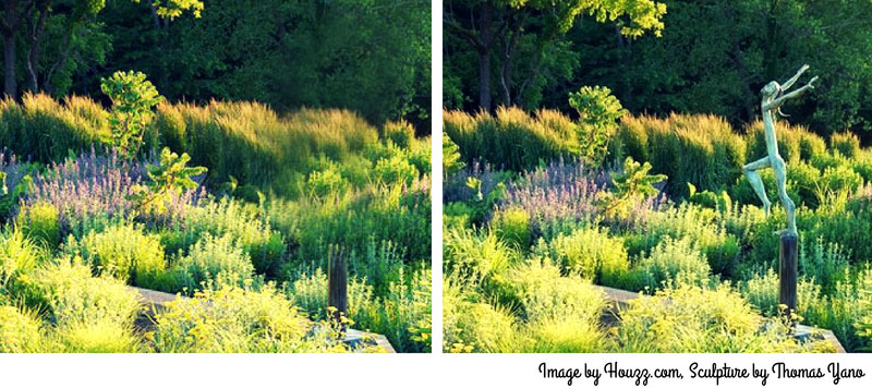 Landscape Design with Garden Statuary and Art